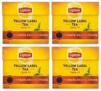 4 x Herbata czarna Lipton Yellow Label Ex'50