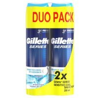 ***Pianka do golenia Gillette Series Sensitive Cool 250 ml x 2 sztuki
