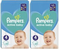 Pieluchy Pampers Active Baby 4 (2 x 49 sztuk)