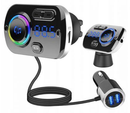 Transmiter samochodowy Bluetooth 2xUSB FM BC49BQ
