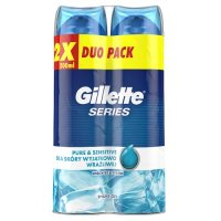 Żel do golenia Gillette Series Pure & Sensitive 200 ml (2 sztuki)